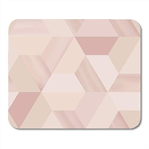 AOHOT Mauspads Brown Geometric Geometry Hexagonal Abstract in Beige Nude Red Pattern Artistic Mouse pad 9.5