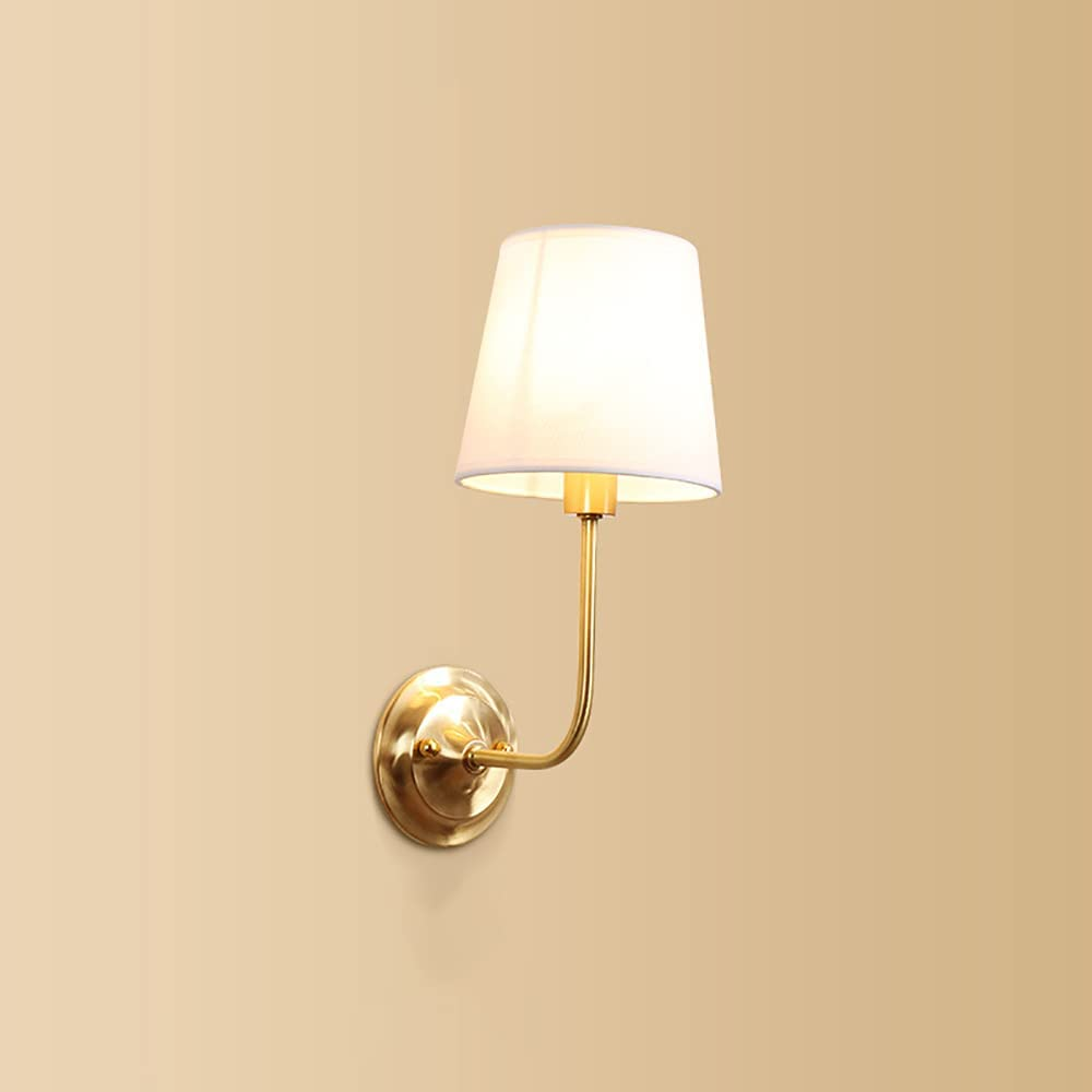 LED Wall New Max 74% OFF products world's highest quality popular Sconces All Copper Lamp Head Single Bedro American