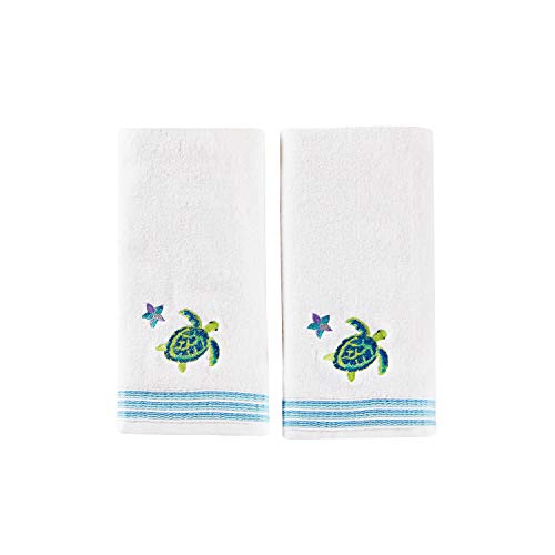 SKL Home by Saturday Knight Ltd. Watercolor Ocean 2-Piece Hand Towel Set, White