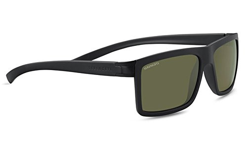 Serengeti Eyewear Erwachsene Brera Sonnenbrille, Sanded Black, Medium