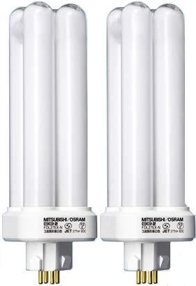 【2個セット】三菱 コンパクト形蛍光灯27形・電球色BB・2 Double FDL27EXL