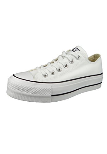 Converse Chuck Taylor All Star Lift - OX - Blanco/Negro/Blanco Canvas