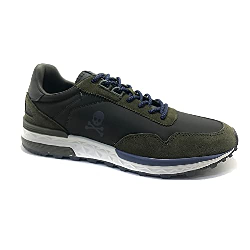 Scalpers Harry, Sneakers, para Hombre, Color Army - Piel/Textil Talla: 43