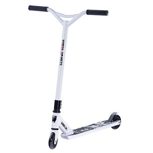 vokul Pro Adulto Stunt Scooter Ligera, Super Tough aluminio Patinete con rueda de hochgradige Urethane, Y-White