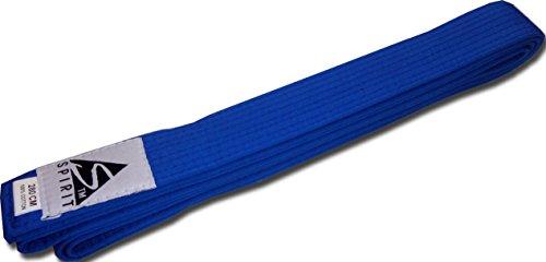 Cinturones de artes marciales de Spirit, color azul, tamaño 280 cm