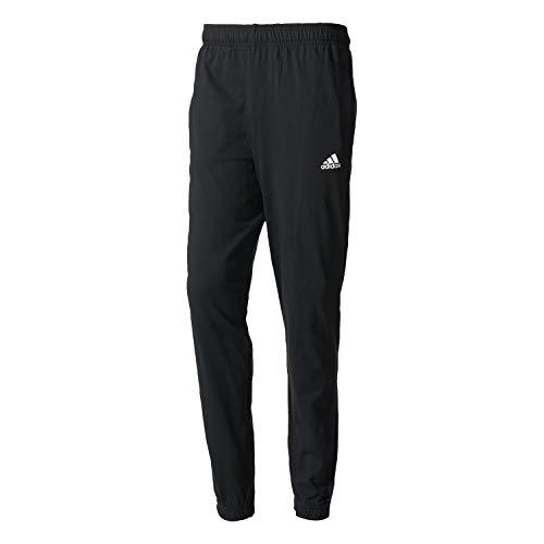 adidas Herren Hose Essentias Tapered Single Jersey, Black/White, XL, B47218