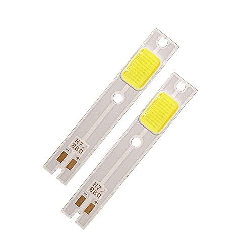 4 unids COB LED FIP para lámparas de faros del coche C6 H1 H3 H4 H7 COB CHIP Luz de luz Fuente de luz Frío Color blanco C6 LED Lámpara de LED Fichas de faros-H7 4pcs