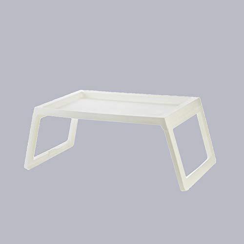 JIHE Tragbarer Laptop-Schreibtisch, Einfaches Klappbett Schreibtisch, Studentenarbeit Faul Schreibtisch,Weiß