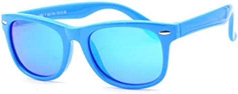 Juslink Toddler Sunglasses 100 UV Proof Flexible Baby Sunglasses for Kids Age 2 10 Blue 2 product image