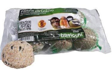 Lot de 36 boules de 90 g de graisse alimentaire pour oiseaux sauvages, sans huile de palme