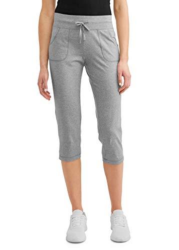 Athletic Works Women's Active Core Knit Capri (X-Large 16/18, Grey Heather)