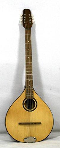 Musikalia luthery ELECTRIFIED Version für Linkshänder in Padouk flach Irische Bouzouki Diapason cm. 66und purfled die Tapas, serigraphied Soundhole