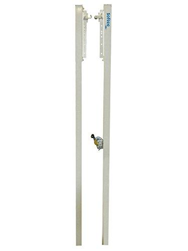 Softee - Juego Postes Voleíbol Fijos De Aluminio Seccion Cuadrada 80 X 80Mm
