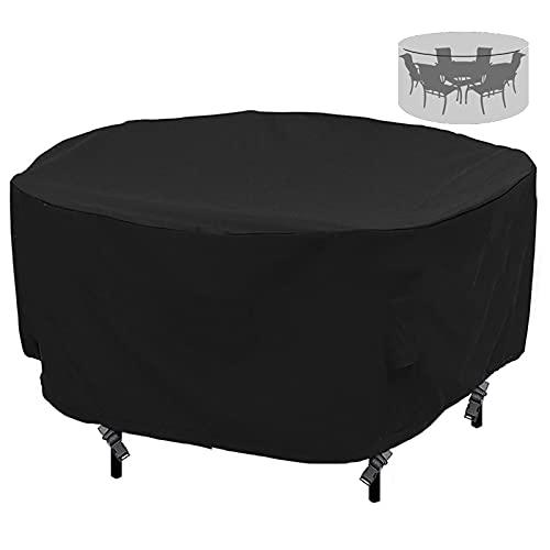 F Fellie Cover Housse de Protection Housses pour mobilier de Jardin Impermeable Anti-poussiere d'exterieur Couverture de Patio pour Table et Chaise Ronde 193 x 80cm