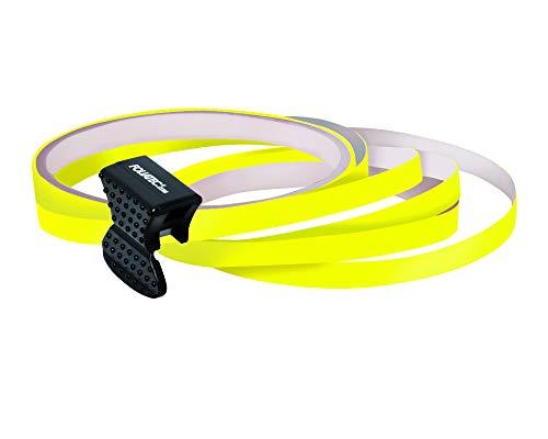 Foliatec 34389 PIN Striping Felgen Design zum Verzieren z. B. von Felgen, Gelb