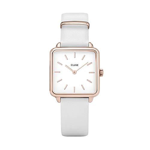 Cluse CL60006 La Garçonne  Damen Armbanduhr Rose Gold, Uhrenarmband Weiß