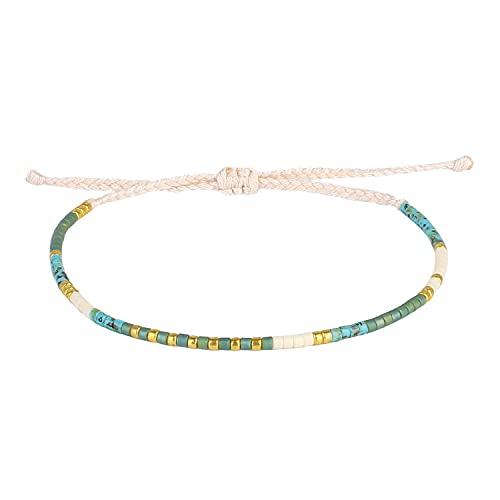 KELITCH 2020 Neue Miyuki Mixed Strand Armbänder Armreifen Handgefertigtes Boho Friendship Armband für Frauen (Blue Green 88J)