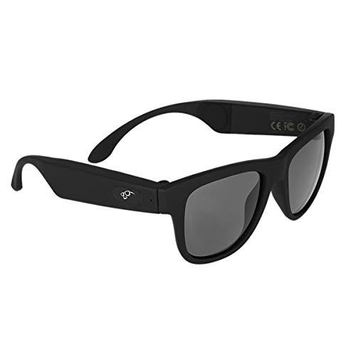 WNZL Kopfhörer-Sonnenbrillen, Bluetooth Wireless Waterproof Sport Brillen Earphones Headset Mic Music Phone Call AI Assistance,Black