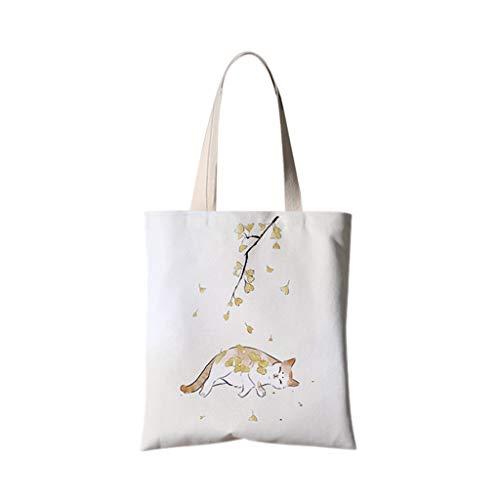 XXT Umweltschutz-Beutel-Retro- Nette eine Schulter Tasche Stoff Umweltschutz Tasche (Color : D, Size : 35 * 40cm)