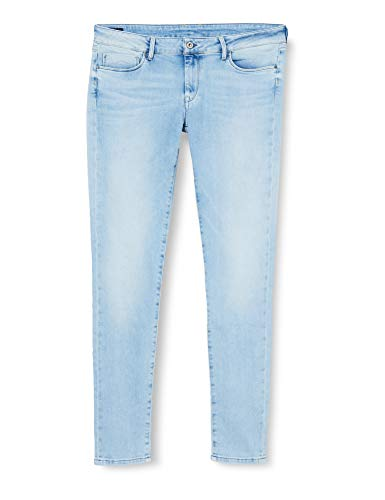 Pepe Jeans Soho Vaqueros, Str American Blue Lt, 24W / 30L para Mujer