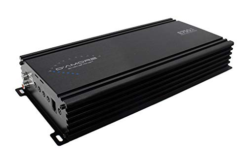 D'Amore Mono Subwoofer Amplifier, 750 Watt Amp, 1 Ohm Stable, Clean D Technology & MOSFET Power Supply, Remote Subwoofer Control Included (E750.1)