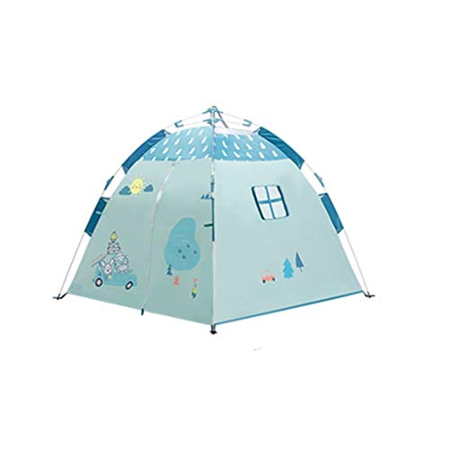 Tents Pop-up Play for Outdoor Picnics, Indoor Camping Game for Child Automatic Portable Hiking Playhouse (Color : A, Size : 120 * 120 * 108CM)