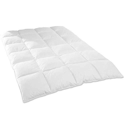 DILUMA   Daunendecke Premium 135x200 cm - Bettdecke mit 90% Daunen 10% Federn - Daunen Steppdecke mit hautsympathischem Bezug aus 100% Baumwolle - ÖkoTex100