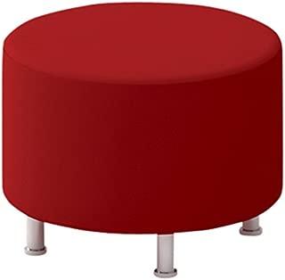 Steelcase Turnstone Alight Round Ottoman, Scarlet Fabric