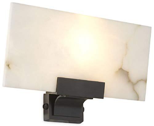 Casa Padrino lámpara de Pared de Lujo alabastro/Bronce 30 x 8 x A. 19 cm - Elegante lámpara de Pared con Pantalla de alabastro - Colección de Lujo