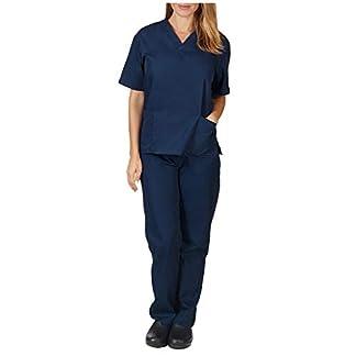 Uniforme Sanitario Pijama Conjunto Casaca Y Pantalón Unisex Hombre Y Mujer Uniformes Sanitarios para Medico, Enfermeros, Personal Sanitario, Veterinario, Esteticista Lonshell