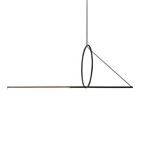 Creatividad Geométrica Luz Colgante LED Incrustado Optimizar Iluminación Colgante Arte De Hierro Personalidad Lámparas De Araña Habitación Para Niños Salón Estudio Luces Colgantes-Luz cálida negra 170