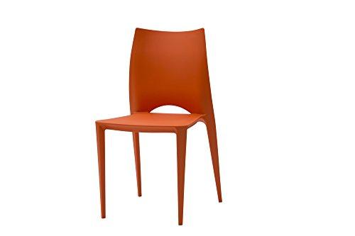 White Loft, Set von 2Stühle, Kunststoff, Orange, 45x 54x 84cm