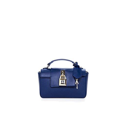 BORSA A MANO IN PELLE 2V6520 AT78 col. Dress Blue By Patrizia Pepe
