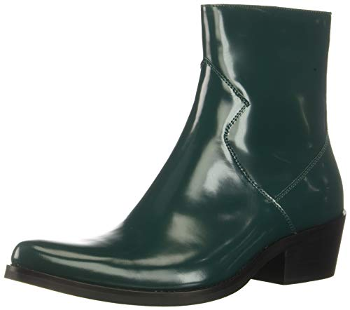 CK Jeans Men's Alden Box Calf Fashion Boot, Bottle Green, 9.5 M US