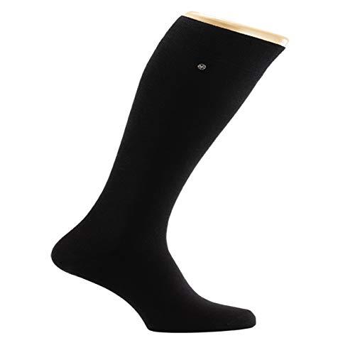 Snap Sock 2er Pack Kniestrümpfe Classic feine, schwarze, mercerisierte Baumwolle