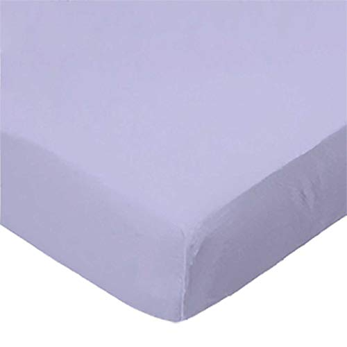 Lowest Price! SheetWorld Fitted 100% Cotton Jersey Pack N Play Sheet Fits Graco, Solid Lavender, 27 ...