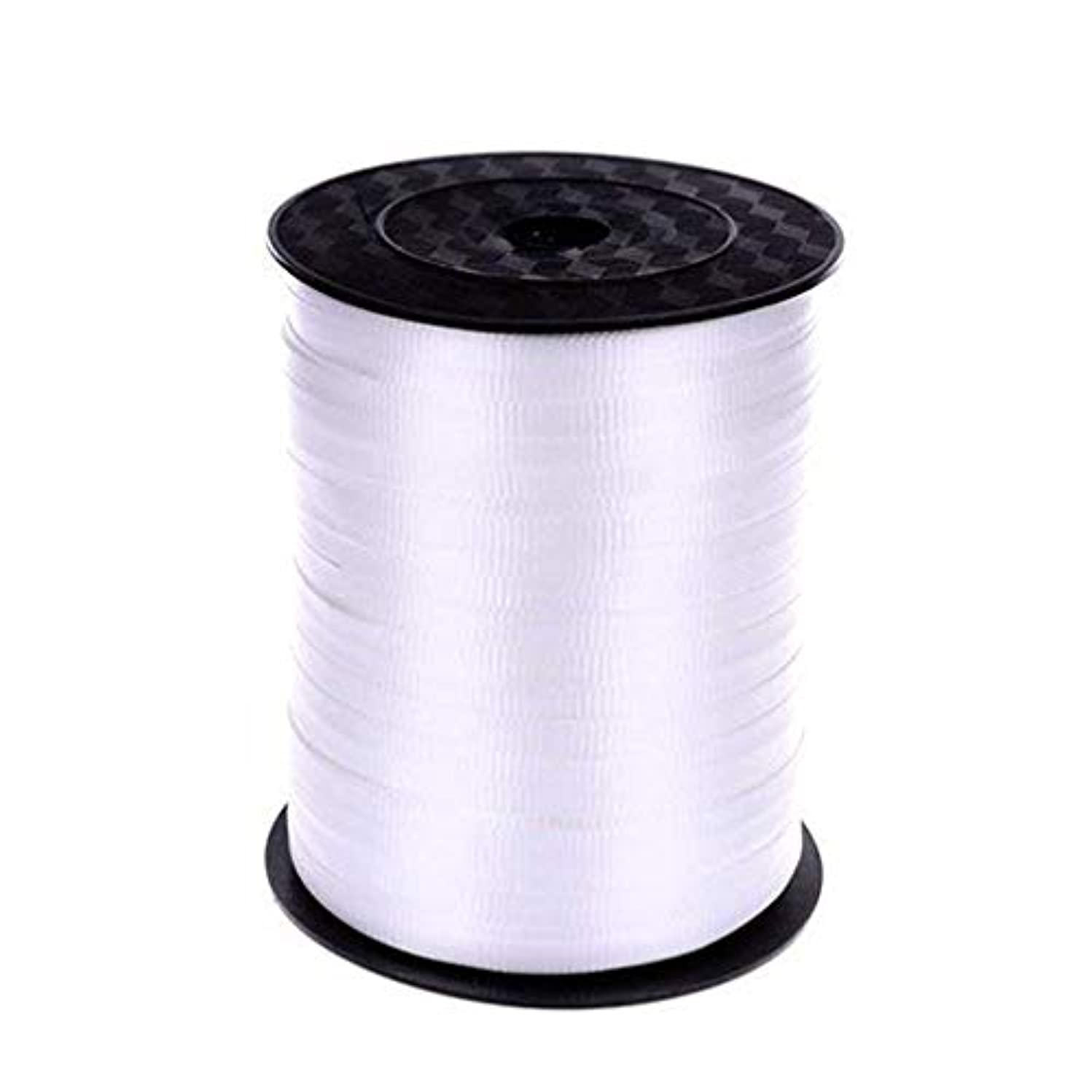 Yeelan 500 Yard Balloon Curling Ribbon Crimped Ribbon Roll Balloons String for Party Wedding Festival Decoration Gift Wrapping etc (White)