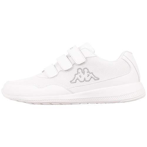 Kappa Męskie buty Follow Vl Sneaker, 1016 Bia?y Szary, 41 EU