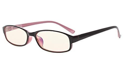 Eyekepper kleine leesbril, UV-bescherming, anti-verblinding, anti-reflecterende lezers +1.25 roze