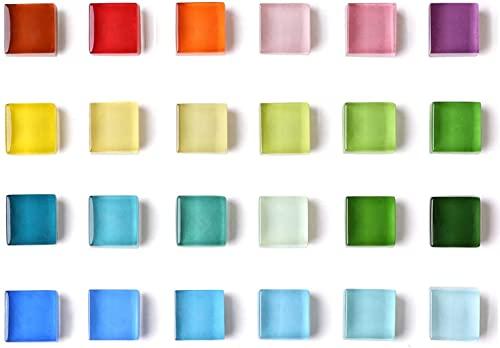 Mymazn Kühlschrankmagnete, Quadratische Kühlschrankmagnete, Büro-Magnete, Whiteboard-Magnete, Küchenmagnete Bunte niedliche lustige Dekoration 15mm x 15mm (12 Farben, 24er Pack)