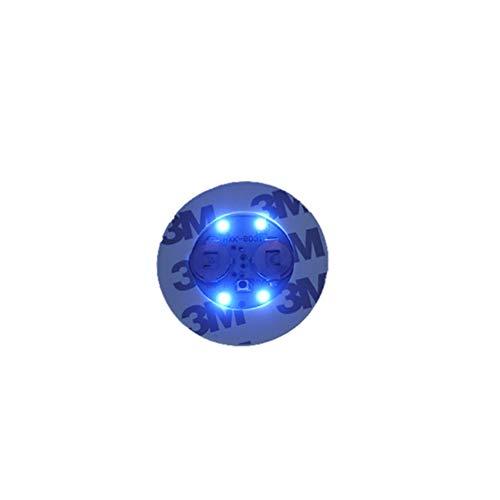 Yunnuopromi - Autocollants Lumineux pour Bouteille - Dessous de Verre - LED - Bleu