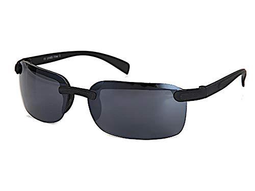 Chic-Net Gafas de sol de los hombres polarizados UV 400 de la correa del metal del deporte de ancho sin marco mate plana