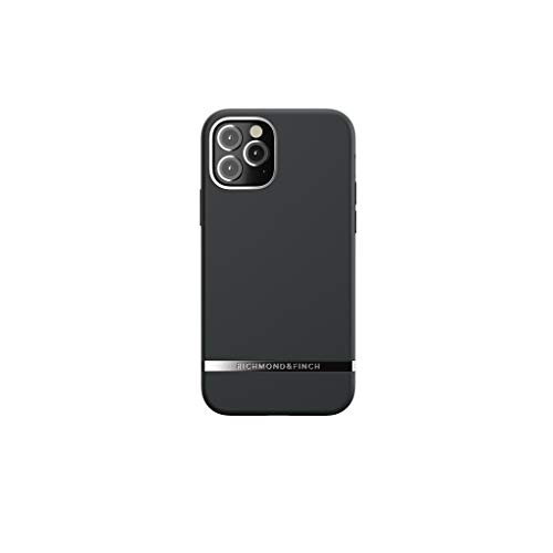 RICHMOND & FINCH Funda Teléfono Diseñada para iPhone 12 Funda, iPhone 12 Pro Funda, 6.1 Pulgada, Negro Fundas Probadas contra Caídas, Bordes Elevados a Prueba De Golpes, Funda Protectora