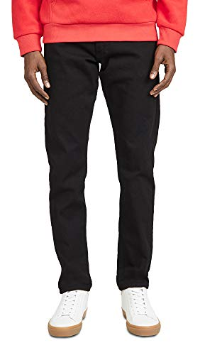 Calvin Klein Men's Slim Fit Jeans, Forever Black, 33W x 30L