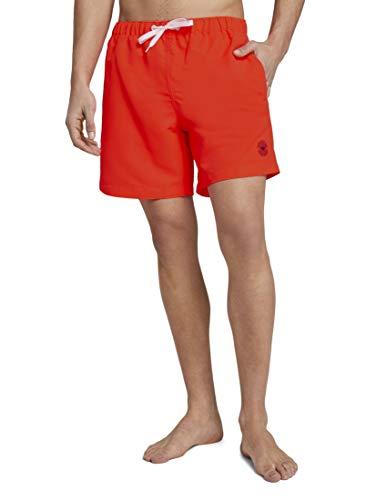 TOM TAILOR Herren Beachwear/Bademode Badeshorts mit Eingrifftaschen neon Peach,S,21082,4556