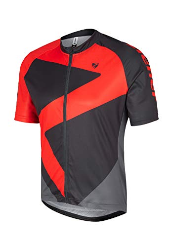 Ziener Herren RCE KARVENDEL (tricot) Fahrradtrikot/Radtrikot - Mountainbike/Rennrad - atmungsaktiv|schnelltrocknend|elastisch|funktionell