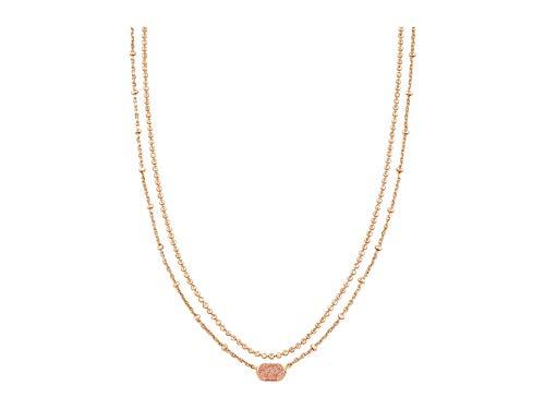 Kendra Scott Emilie Multi Strand Necklace Rose Gold Sand Drusy One Size