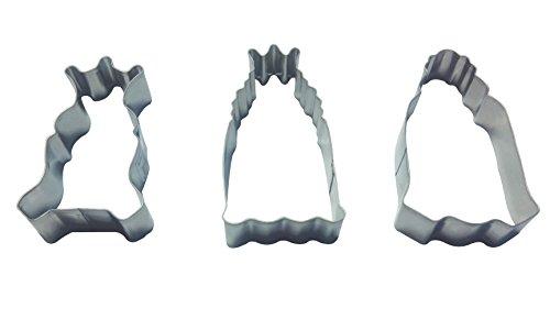 DeColorDulce Rois Mages Set Moule Biscuit, Acier Inoxydable, Argent, 13 x 10 x 3 cm, Lot de 3