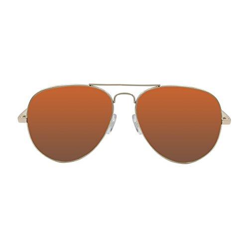 Ocean Sunglasses - Banila aviator - lunettes de soleil en Métal - Monture : Doré - Verres : Marron (18110.11)