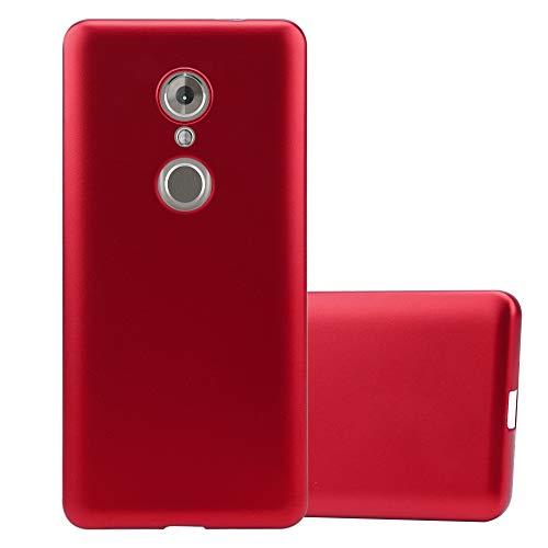 Cadorabo Funda para ZTE Axon 7 Mini en Metallic Rojo - Cubierta Proteccíon de Silicona TPU Delgada e Flexible con Antichoque - Gel Case Cover Carcasa Ligera